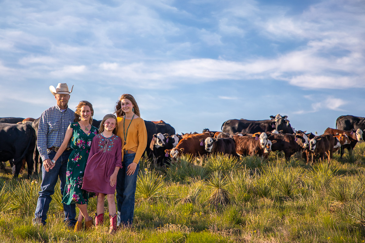 Texas Panhandle Ranch Family